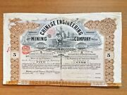 👍 Chinese 1912 Engineering And Mining Company 5 Shares With Coupons Uncancelled