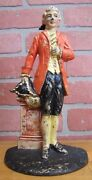 Old Cast Iron Colonial Lawyer Doorstop Rosa May Pickard Waverly Studios Pat Apld