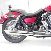 Dandd Chrome 2-into-1 21 Fat Cat Exhaust System Louvered Baffle Harley Fxr 89-00