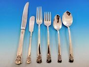 Dorchester By International Sterling Silver Flatware Set For 8 Service 48 Pieces