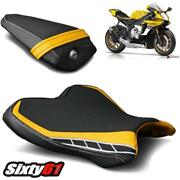 Yamaha R1 Seat Covers 2015-2020 2021 Black Yellow Luimoto Front Rear Anniversary