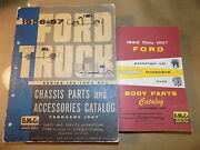 1956 1957 Ford Truck Orig Chassis/body Parts Catalog Set_f-100 To 600_f-250 F350