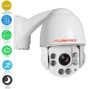 Dome Camera Pan / Tilt / Zoom Ip In/outdoor Security Surveillance System 1080p