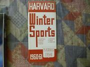 1960-61 Harvard Basketball Media Guide Yearbook Press Book Winter Sports 1961 Ad