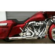 Dandd Chrome 21 2-into-1 Stubby Cat Full Exhaust System Harley Touring 2009-2016