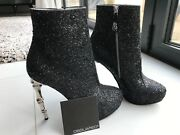 Dsquared2 High Heel Glitter Boot Size 38/5
