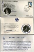 Russia 1980 Moscow Olympic Yachting Star Silver Unc Money Coin + Fdc Stamp