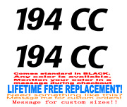 Pair Of 2 X 8 Inch Cobia 194 Cc Boat Hull Decals Your Color Choice