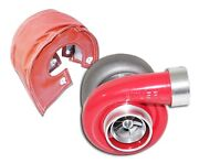 Red Gt45 Turbo + Heat Shield 600+hp T4/t66 3.5 Vband 1.05 A/r High Performance