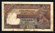 India 5 Rupees P15 A 1928 King George V Rare British Colony Money Bank Note