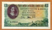 South Africa 5 Pounds 1952 P-97a Vf+ 65 Years Old