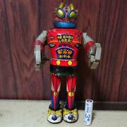 Tin Toy Japan Vintage Wind Up Adventure Rock Bat Bullmark Used Very Rare F/s