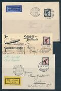 Lz127 Zeppelin Flight Cards And Covers Germany Despatch 4 Different Bu6192