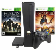 Refurbished Microsoft Xbox 360 Slim 250gb With Halo Reach And Fable 3