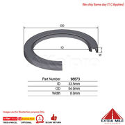 98673andnbspoil Seal For Holden Colorado Rc - Axle / Drive Shaft - Front Inner