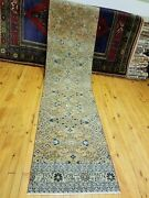 Primitive Antique 1930-1940s Wool Pile 2and0393andtimes 9and0395 Henna Dye Bunyan Runner Rug