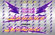 1993 Yamaha Banshee Full Graphics Decals Kit Stickers Thick And High Gloss