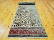 Primitive Antique 1930-1940and039s Wool Pile 2and0393andtimes9and0398 Muted Dye Bunyan Runner Rug