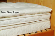 Holy Lamb Quilted Organic Cotton And Wool Deep Sleep Mattress Toppers