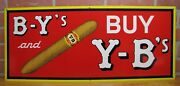 Old Y-b Yocum Bros Deluxe Cigar Sign B-yand039s And Buy Y-band039s Tin Litho Reading Penna