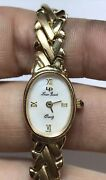Vintage Solid 14k Yellow Gold Mother Of Pearl Lucien Piccard Ladies Wrist Watch