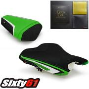 Kawasaki Zx6r Seat Covers With Gel 2013-2018 Anniversary Front Rear Luimoto