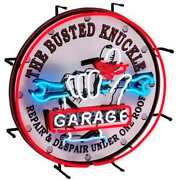 The Busted Knuckle Garage Repair And Despair Neon Sign - Bkg-75400