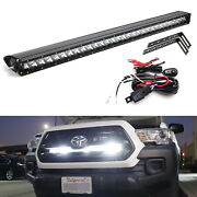 150w 30 Led Light Bar W/ Behind Grille Brackets Wiring For 16-up Toyota Tacoma