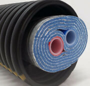 Outdoor Wood Boiler Five Wrap Insulated 3/4 Oxygen Barrier Pex Tubing-pipe
