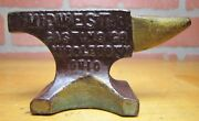 Old Midwest Casting Co Middletown Ohio Mini Advertising Anvil Sm Salesman Sample
