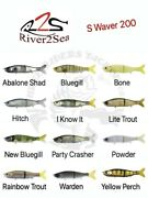 River2sea S-waver 200 Hard Body Jointed Swimbaits Pl-sw200s - Choose Color