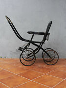 Antique Victorian Pram Toddler Baby Stroller 1800's Collectible Photography Prop