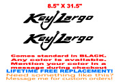 Pair Of 8.5x31.5 Key Largo Boat Hull Decals. Your Color Choice 186