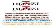 Pair Of 5x28 Donzi Boat Hull Decals. With Red Z. Your Color Choice 015