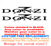 Pair Of 2 5x12 Donzi Boat Hull Decals. Marine Grade. Black With Red Z 10
