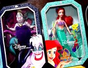 2 Disney Princess Signature Collection Ariel The Little Mermaid Doll And Ursula