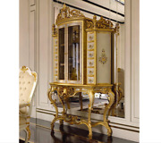 Brand New Exquisite Florentine Vitrine Display Cabinet Lacquered Made In Italy