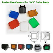 Led Work Light Bar 3x3 Cube Pods Dust Proof Cover For Offroad Atv Truck 4x4 Suv