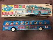 Osaka World Expo 1970 70's Japan Tin Toy Sightseeing Bus Made In Japan Rare F/s