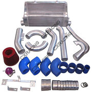 Cxracing Intercooler Turbo Intake Kit For 83-88 Toyota Truck Hilux 2jz-gte Twin