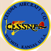 Cessna Aircraft Co. Plane Airplane Vintage Aviation 14 Round Metal Sign