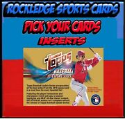 2018 Topps Update Inserts Pick Your Cards