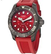 Victorinox Swiss Army Dive Master 500 Automatic 241577 Menand039s Watch Red New