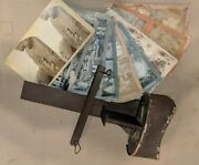 Vintage Antique Wooden Stereoscope 3d Viewer W/ 10 Cards