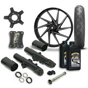 Rc 21 Manic Wheel Tire And Complete Eclipse Front End Package Harley 14-19 Flh
