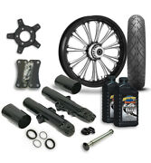 Rc 21 Imperial Wheel Tire And Complete Eclipse Front End Package Harley 14-19 Flh