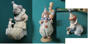 Lladro Spain Collector Clowns Figurines With Dog, With Balloons Nib -pick 1
