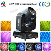 230w Sharpy Beam Moving Head Light 8+16 Prism Very Smooth Scan 16ch
