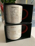 Starbucks Coffee 2x And039you Are Hereand039 And039germany And Greeceand039 Xmas Holiday Yah City Mug
