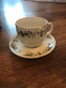 7 Target Home Stoneware Holly Berry Christmas Charm Cup And Saucer